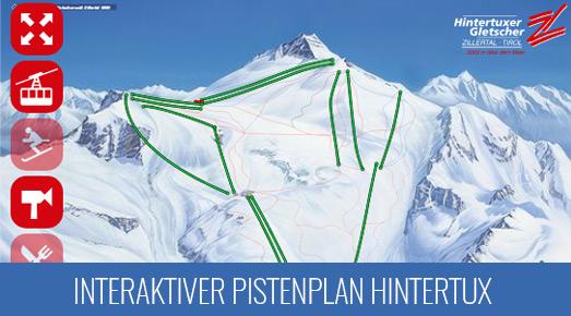 Pistenkarte Skigebiet Hintertuxer Gletscher