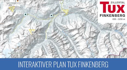 Pistenkarte Skigebiet Tux